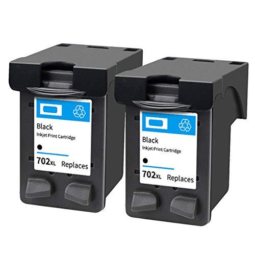SXCD Cartucho de tinta 702 22, repuesto para impresora HP OfficeJet J3508, J3606, J3608, J5508, FAX1250, PSC, 1401, 3940, Deskjet D1311, color negro y negro