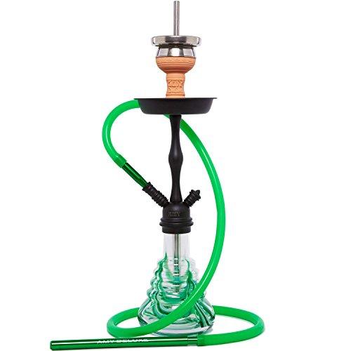 AMY 440 Stillness II Klick Shisha Wasserpfeife (Grün Schwarz matt)
