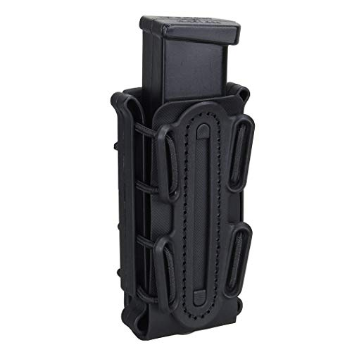 IDOGEAR 9mm Mag Pouch Pistol Magazine Pouch Soft Shell Fast Magazine Pouch Tactical Mag Carrier Hunting Airsoft Gear (Black)