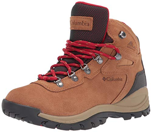 Columbia womens Newton Ridge Plus Waterproof Amped Hiking Boot, Elk/Mountain Red, 9 US