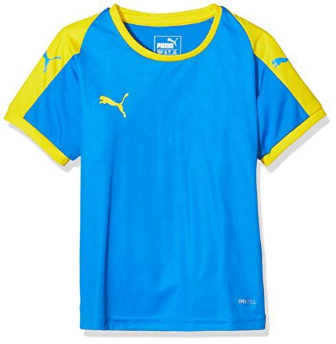PUMA Kinder LIGA Jersey, Electric Blue Lemonade/Yellow, 128