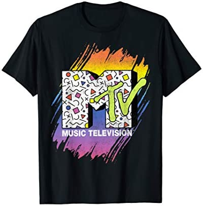 MTV Music Television Brush Stroke Logo T Shirt product image