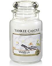 Yankee Candle Doftljus, Vanilj, Bränntid Upp till 150 timmar, Vit