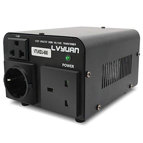 Cantonape Convertidor de Voltaje - Transformador Elevador/Reductor de Voltaje de 800W 220V / 240V a 110V / 120V de Subida y Bajada