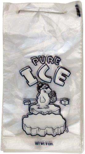 Interplas PB-ICE-8M 8 lbs Polar Bear Wicketed Icebags, 6.33' Length, 11' Width (Case of 1000)