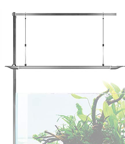 ONF Square Hanging Kit for Aquarium Light, Suspension System, Extendable Holder for 24 or 36 inch Fish Tank Light, 2 pcs Tubes in Pack, Left