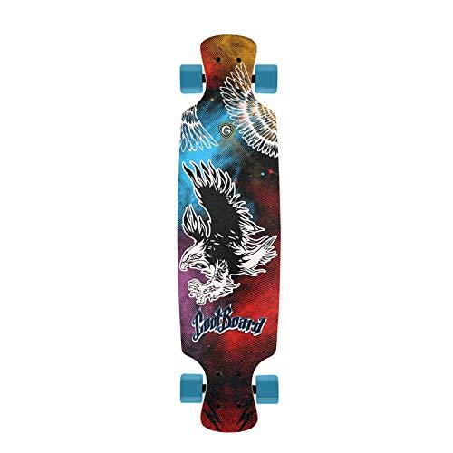 FWZZQ Maple Longboard Anfänger Skateboard Outdoor Sport Skateboard-Adler_79 * 20,5 * 10 cm