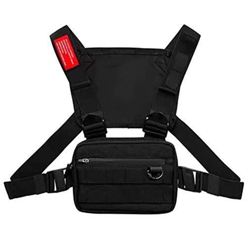 lefeindgdi Chest Rig Tasche, Multifunktionale Harness Chest Waist Pack Taschen, Hip Hop Fashion Chest Front Bag Brusttasche für Mann