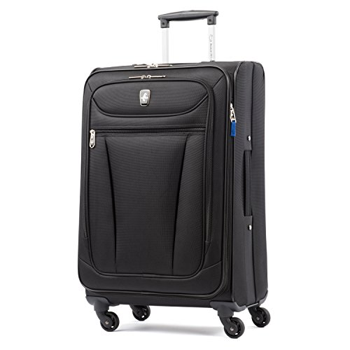 Atlantic Luggage Avion Lite 2 Piece Spinner Luggage Set, Black, One Size