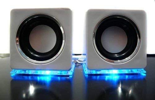Design USB Lautsprecher Boxen in Weiß
