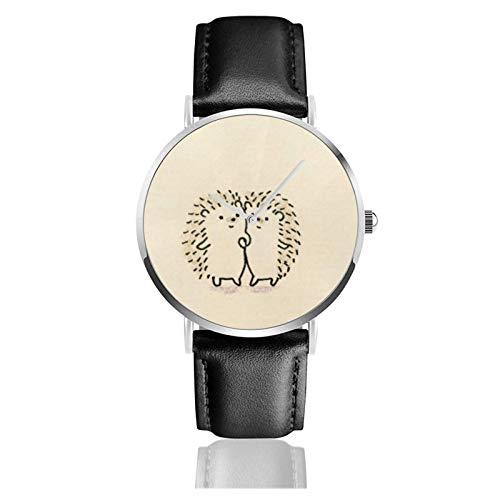 Relojes Anolog Negocio Cuarzo Cuero de PU Amable Relojes de Pulsera Wrist Watches Erizo