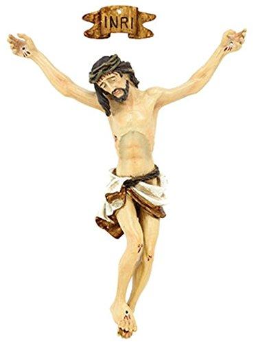 CB Resin Jesus Christ Corpus with INRI Plaque for Crucifix Part, 3 1/2 Inch