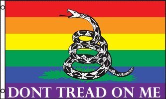 Don't Tread on Me (Rainbow) Flag 3x5ft