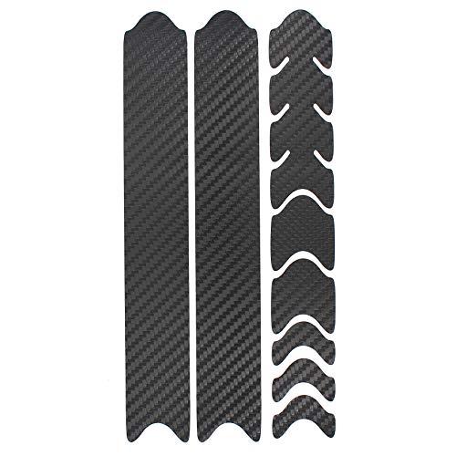 AlphaShield Fahrrad Rahmenschutz Kettenstreben Schutz Folie Aufkleber Rahmen Schutz Carbon MTB BMX Lackschutz Folie K099 (Carbon Schwarz)