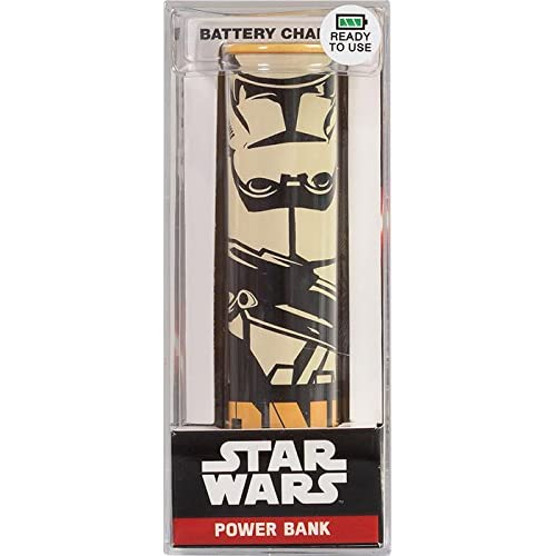 Tribe Star Wars 2600 mAh Power Bank, Caricabatteria Portatile Universale USB Batteria Esterna per tutti Smartphone Cellulari, Clonetrooper, Arancio