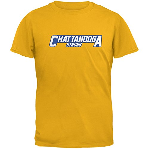 Chattanooga Strong Athletic Team Logo Gold Adult T-Shirt - X-Large