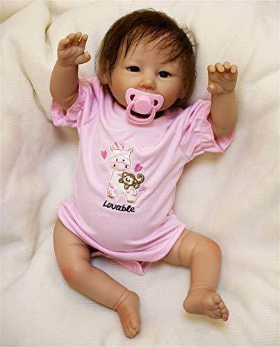 ZIYIUI Reborn Babys mädchen 50cm lebensecht silikon Puppe Girl Wie EIN echtes babypuppe Magnetisches Spielzeug