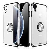 XUNDD Coque iPhone XR,Coque Cristal à 360 ° avec Support magnétique pour Bague Béquille Fonction, Aimant Support de Voiture Coque pour iPhone XR