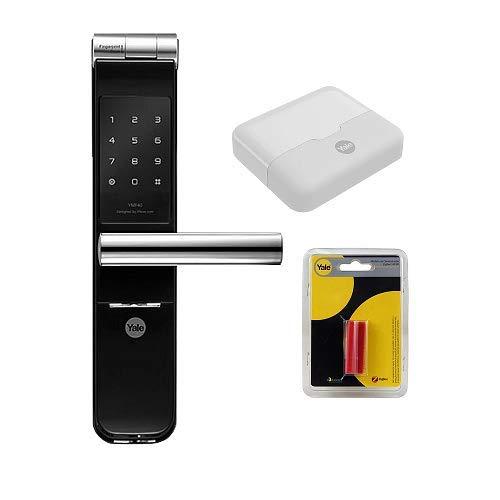 Kit Fechadura Digital Ymf 40 Abre Com App, Biometria E Senha Yale