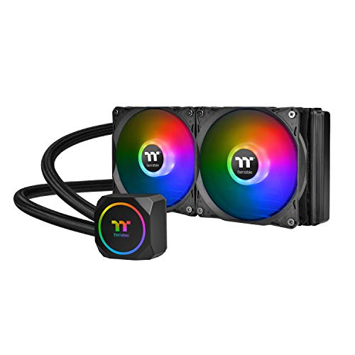 Thermaltake TH240 ARGB Motherboard Sync Edition AMD/Intel LGA1200 Ready All-in-One Liquid Cooling System 240mm High Efficiency Radiator CPU Cooler CL-W286-PL12SW-A