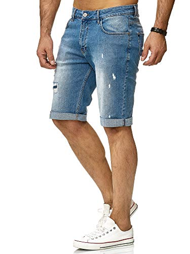 Redbridge Uomo Denim Jeans Shorts Casual Basic Distrutto Pantaloncini Moda Bermudas