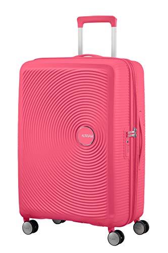 American Tourister Soundbox - Spinner Medium Expandable Maleta, 67 cm, 81 Liters, Rosa (Hot Pink)