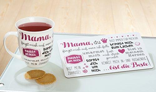 1x Jumbo-Tasse Mama du bist immer für mich da 400 ml, Geschenk, Muttertag, Geschirr, Küche