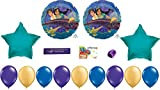 Aladdin Party Supplies Featuring Aladdin Balloons, Jasmine Balloons and Printed Happy Birthday Ribbon