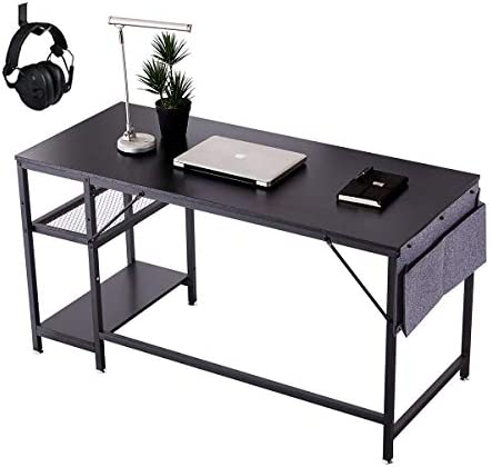 V AIDMENG 55 Home Office Desks Computer Desks Study Writing Desks with Storage Shelf Hook and product image