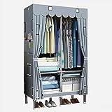 QIFFIY Armario de Gran Capacidad, Armario de Dormitorio, Interfaz de aleación de Aluminio y Armario Simple de Acero (85 * 45 * 170cm)