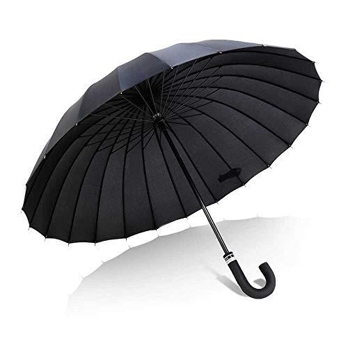 Parapluie Coupe-Vent Parapluie long manche pour augmenter le vent et la pluie et la pluie Double usage poignée droite parapluie double parapluie droite 24 floraison d'os Poignée Classique Léger Etanch