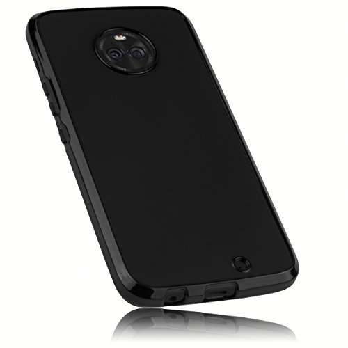 mumbi Hülle kompatibel mit Motorola Moto X4 Handy Case Handyhülle, schwarz