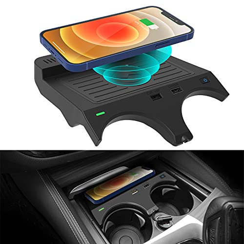 Wireless Car Charger for BMW 5 Series M5/535i/540i/550i/530e 2017-2021 and 6 Series M6/640i/650i 2018-2019 Accessories, Center Console Wireless Charging pad fit for BMW Accessories (Not fit NFC)