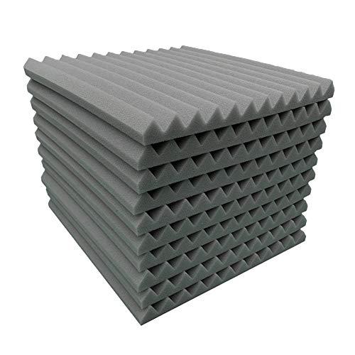 Syfinee 10 Pcs Studio Acoustic Soundproof Foam Sound Treatment Room Absorption Sponge Acoustic Panels Soundproof Studio Foam for Walls Sound Absorbing Panels Sound Insulation Panels Wedge