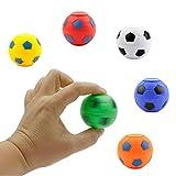 Entervending Spinner Balls 1.4''- Soccer Balls Assorted Colors Spinners - Fidget Toy Balls in Bulk, 25 pcs