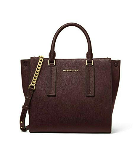 "100% Pebbled Leather, Gold-Tone Hardware 12.75""W X 9""H X 5.5""D Handle Drop: 4"", Adjustable Strap: 20""-22"" Interior Details: Back Zip Pocket, Back Slip Pocket, Front Slip Pocket, Center Zip Compartment Zipper Closure"