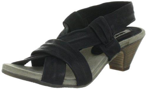 Manas Damen simona Klassische Sandalen, Schwarz (NERO), 36 EU