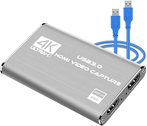 DIGITNOW! Game Capture Card, 4K-Audio-Videoaufnahmekarte, HDMI USB 3.0-Videoaufnahmegerät, Full HD 1080P für Spielaufzeichnung, Live-Streaming-Übertragung