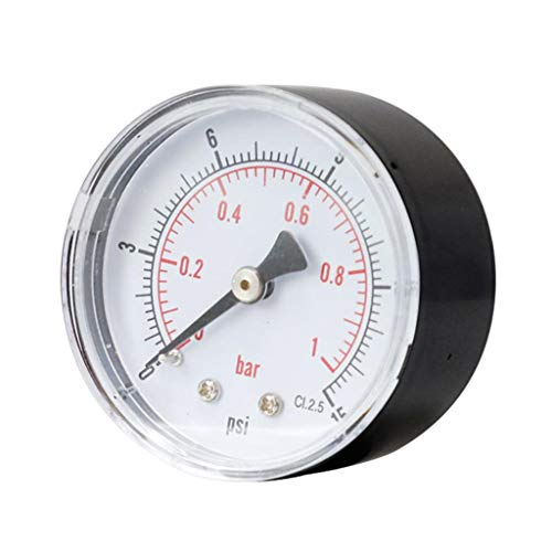 1/4 Zoll BSPT Druckluft-Manometer 0-15 PSI, 0-1 Bar Manometer für Wasser-Luft-Ölmessgerät