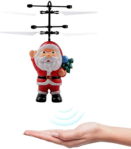 TTCPUYSA Santa Claus Induction Aircraft Toy, Santa Claus Electric Infrared Smart Sensor Sensor Flying Toy Gift for Children Kids