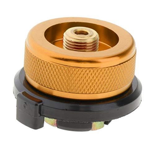 Amagogo Adaptador de Cocina de Gas de Camping al Aire Libre Conector convertidor de Estufa para Bote de butano a Tornillo de Cartucho de Gas Adaptador de - Naranja