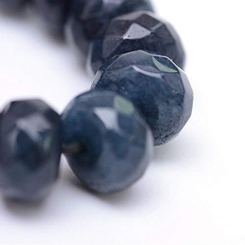 Perlin Edelstein Perlen Achat Stein 4x3mm Indische Sapphire Blau 30Stk Facet Rondelle Achatperle Schmuckstein New Gem