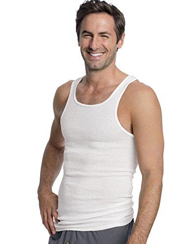 Hanes Men's ComfortSoft Moisture Wicking Tagless Tank Undershirts-Multipacks, White 3-Pack, 3X Large