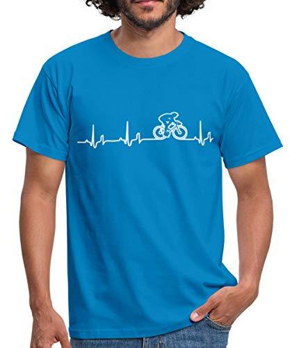 Rennrad EKG Fahrrad Rennradfahrer Bike Männer T-Shirt, XL, Royalblau