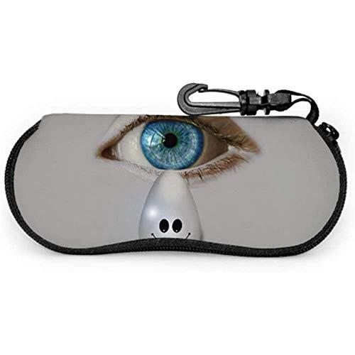 Lágrima de ojos Sonrisa Alegría Lágrimas de alegría Emoticon Mejor estuche de gafas de sol Estuche de gafas de sol de arte Estuche suave de cremallera de neopreno Estuche de gafas para niño