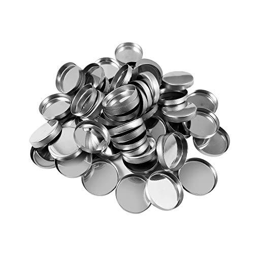 Allwon 56er Pack Leere runde Metallpfannen Größe 26 mm für Lidschatten-Palette Magnetische Make-up-Palette (Höhe 3,5 mm)