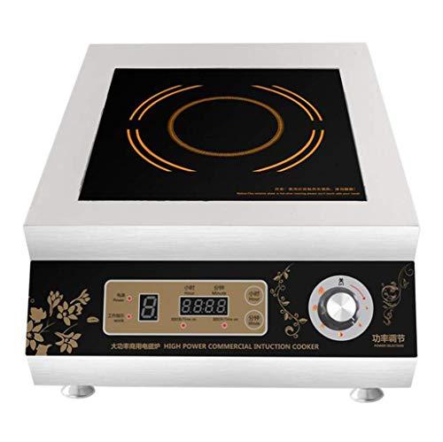 Gran cocina de inducción comercial, 5000W cocina de inducción plana, Hotel de escritorio industrial, 5000W de alta potencia estufa de sopa, de acero inoxidable, de gran tamaño del hogar, estufa hogar