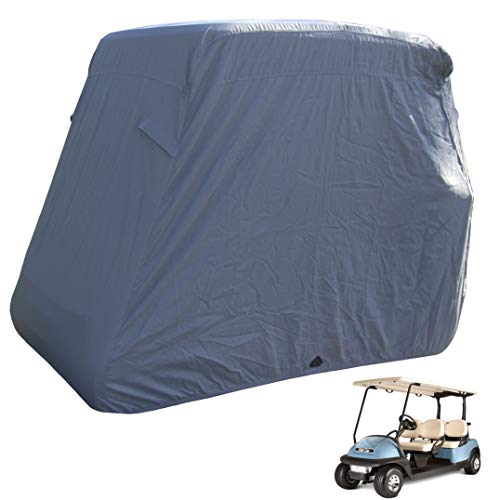 Deluxe 4 Seater Golf Cart Cover roof 80' L Grey, Fits E Z GO, Club Car and Yamaha G Model - Fits GEM e2