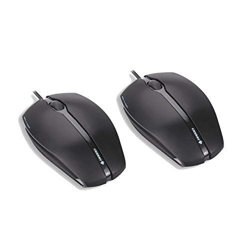 Maus CHERRY GENTIX Corded Optical Mouse 2er Pack Schwarz