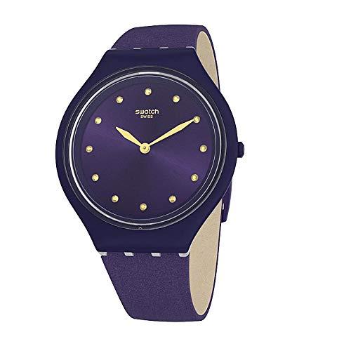 Swatch Reloj Analógico para Mujer de Cuarzo con Correa en Tela SVUV102